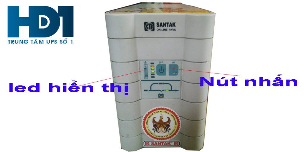 Panel hiển thị bộ lưu điện santak online 1kva